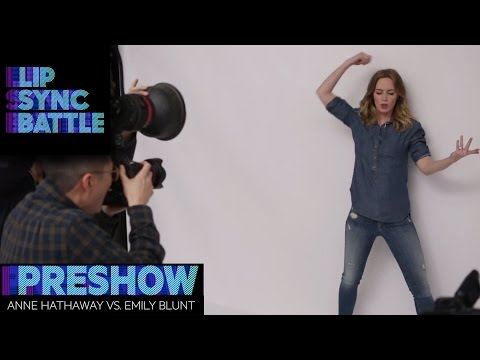Anne Hathaway vs. Emily Blunt | Lip Sync Battle Preshow
