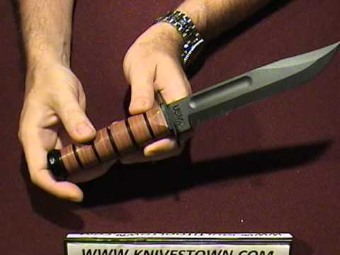 KA-BAR USMC Combat Knife Review - Full Sized Version