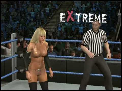 WWE SmackDown vs. RAW 2010 Michelle McCool NAKED attire