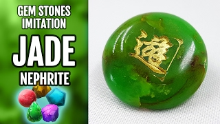 DIY Polymer Clay Realistic Natural Jade Gemstone. Gemstone imitation technique. VIDEO Tutorial!