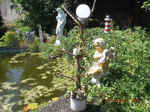 Lampe aus Beton und Holz für den Garten - ganz einfach gemacht