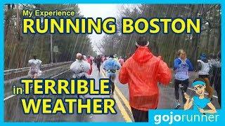 Running the Boston Marathon in Terrible Weather - My Experience (2018, gojo runner)