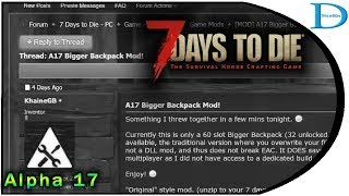 How To Install Bigger Bag Mod with UI for 7 Days To Die A17e