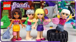 ♥ LEGO Friends TREE HOUSE Adventure Camp Competition (STOP MOTION Cartoon)