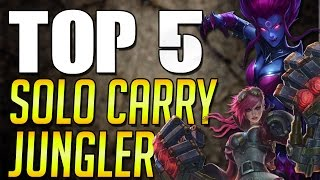 Top 5 Solo Carry Jungler German - League of Legends