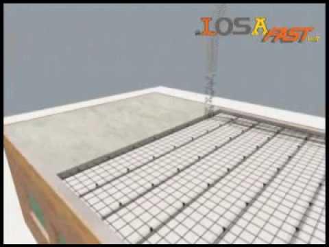 Paredes de telgopor malla metalica y cemento
