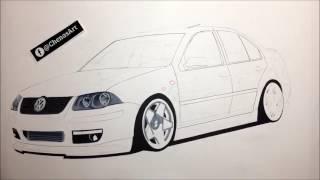 Volkswagen Jetta Black Edition Speed Drawing