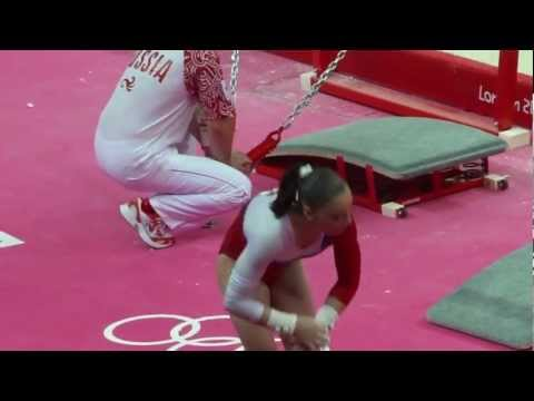 Aliya Mustafina Olympics 2012 Qualification Uneven Bars UB