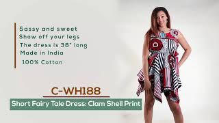 African print Fairy Tale Dress: Clam Shell Print