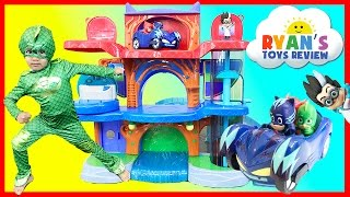 PJ Masks Headquarters Playset with Catboy, Gekko, and Owlette!