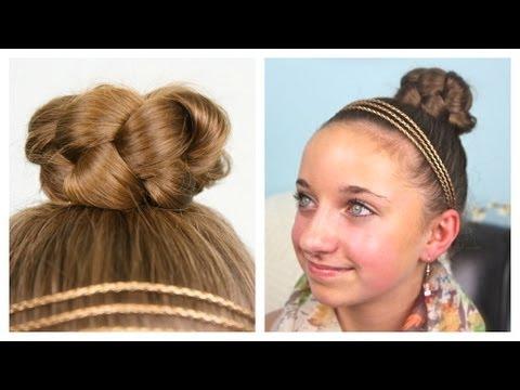 Simple Braided Bun | Updo | Cute Girls Hairstyles