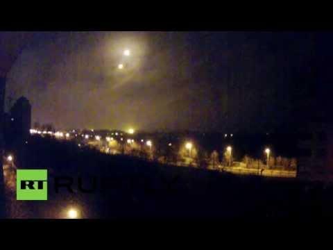 Ukraine: UFOs above Donetsk Airport?