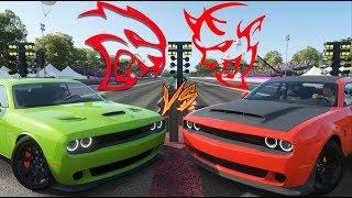 Forza Horizon 4 - Drag Race - DODGE DEMON vs HELLCAT