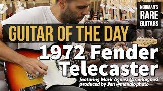 Guitar of the Day: 1972 Fender Telecaster Sunburst | Norman's Rare Guitars