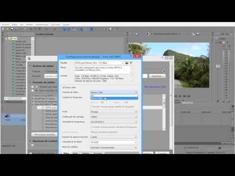 Tutorial configuracion render Sony Vegas Pro 12