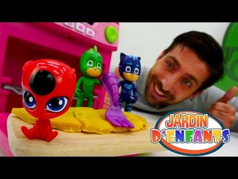 Vidéo en français du Jardin d'Enfants №43: les Pyjamasques font des beignets