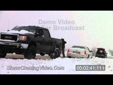 2/4/2011 Oklahoma City, OK Snow Storm Video