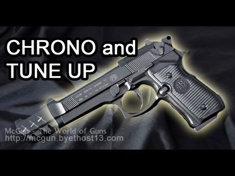 Beretta 92 FS (4.5mm) Disassembly (Tune up) and Chronograph Test