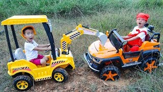 Construction Vehicles Toys for kids | Electric Ride On Car & Excavator for Children