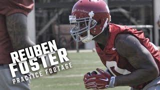 Watch Reuben Foster run drills during Alabama