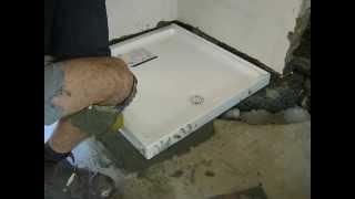 shower base Installation