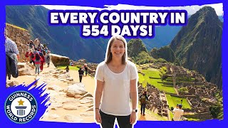 Fastest time to visit every country in the world!  - Guinness World Records