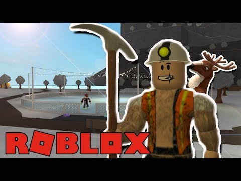GOING MINING AND ICE SKATING WITH MY PET DEER! Bloxburg Roleplay