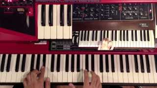 Spring Yard Zone  Funk style Chords Fender Rhodes Piano Tutorial