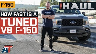 How Fast Is A Tuned Bolt On V8 F150? | Coyote Powered F150 Takes on the Strip & Dyno - The Haul