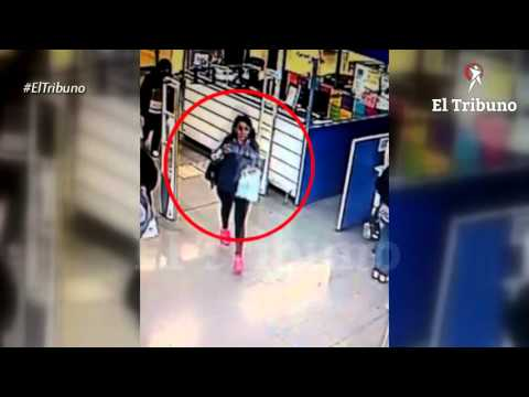 Video: robó una cartera en un supermercado del microcentro