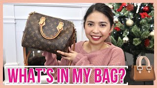 WHAT'S IN MY BAG 2018 | TAGALOG | LOUIS VUITTON SPEEDY B25 | PHILIPPINES