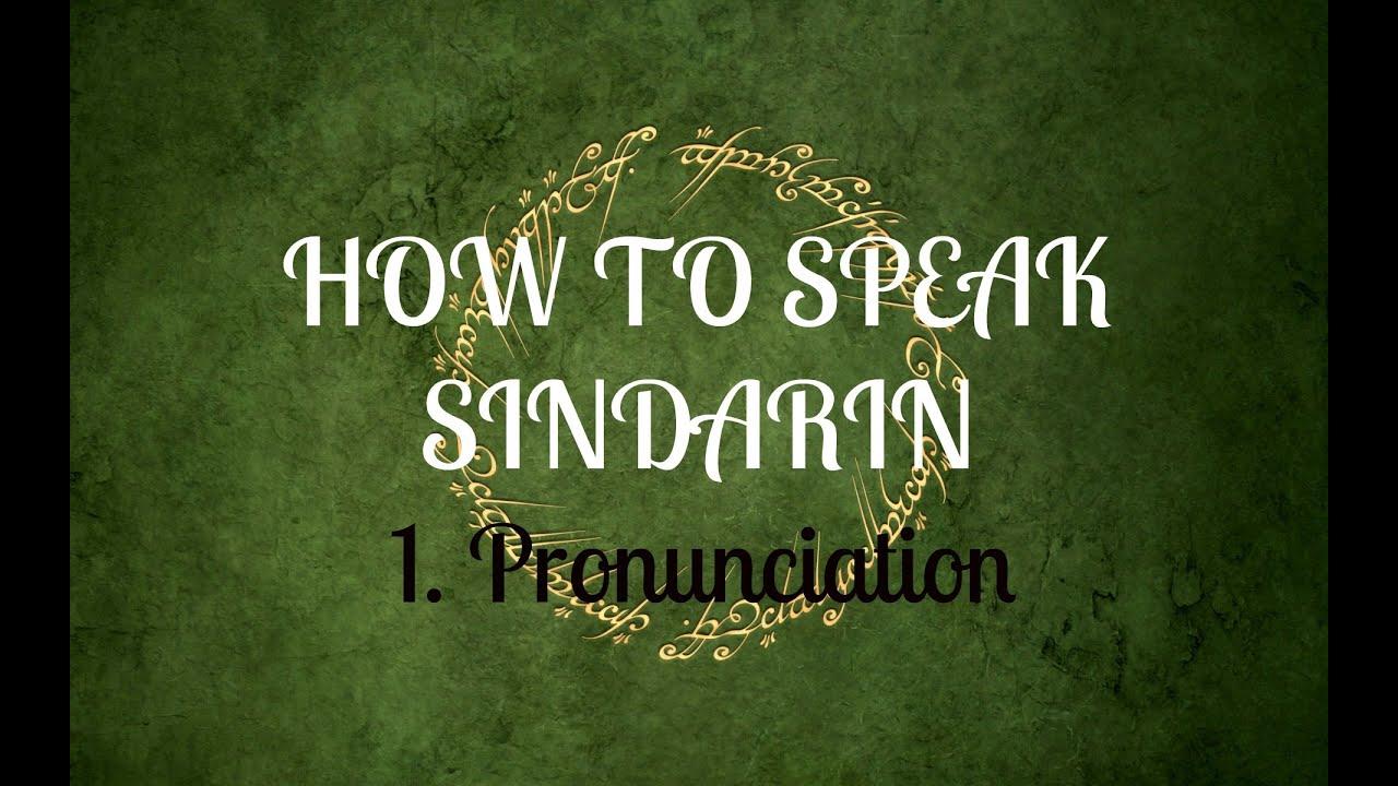 Sindarin Lessons - Home