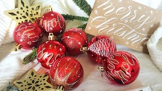 DIY Christmas Ornaments Decoration with Markers