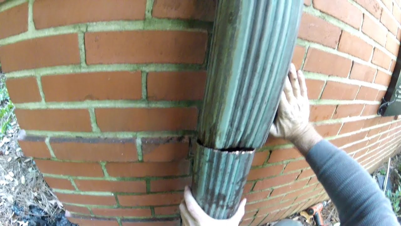 How To Clean And Repair Copper Downspout And The