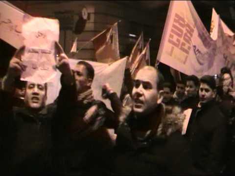 Manifestazione al Consolato Generale Della Repubblica Araba D'Egitto a Milano 31 gennaio 2011