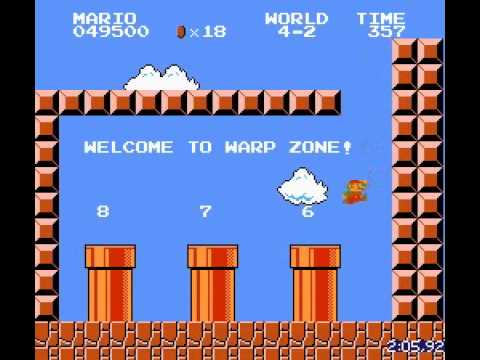Super Mario Bros World Mapa Super Mario Bros Record