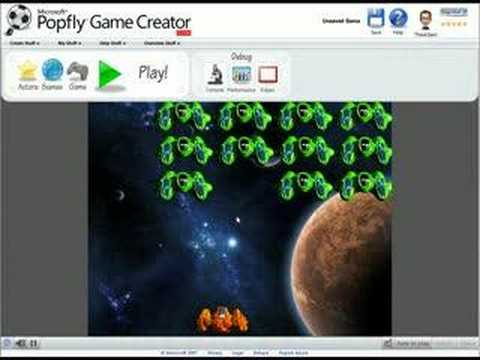 Popfly Game Creator: Build a Space Shooter game