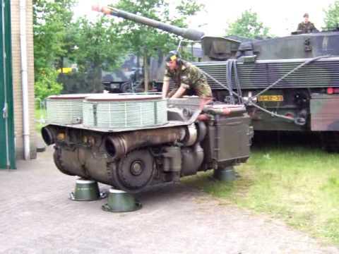 Leopard 2A6 Motor Sound. Tank Engine 1500 Pk. Big Dude. Diesel Power. Motor Kampfpanzer