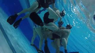 Underwater Rugby in Melbourne Sports and Aquatic Centre.