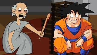 GRANNY THE HORROR GAME ANIMATION #11 : GOKU Vs Scary Granny