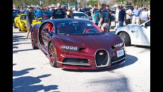 Bugatti Chiron, McLaren P1, Lamborghini Aventador SV & More Supercars at Cars and Coffee Palm Beach