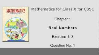 Ex 1.3: Q.1 : Prove that square root of 5 is irrational - Ch 1 | Class Xth Math for CBSE Students