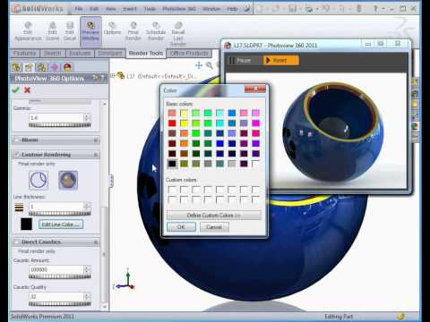 how to open photoview 360 in solidworks