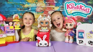 Madison's First Day of Kindergarten! KindiKids Toy Pretend Play!