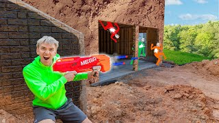 Nerf Blaster Battle Royale Challenge in Underground Backyard Bunker! (Last to Defeat Mystery Spy)
