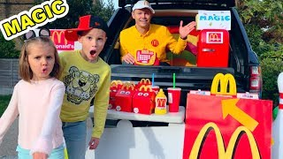 MaGiC McDonalds превратил настоящую еду в ... Мэджик МакДональдс turn real food in gummy