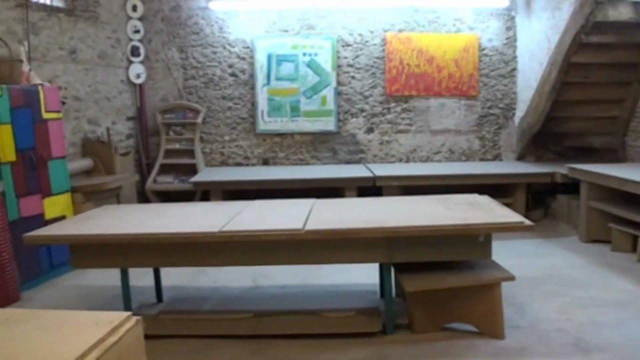 Atelier schmulb du meuble carton et du papier mach youtube - Meuble en papier mache ...