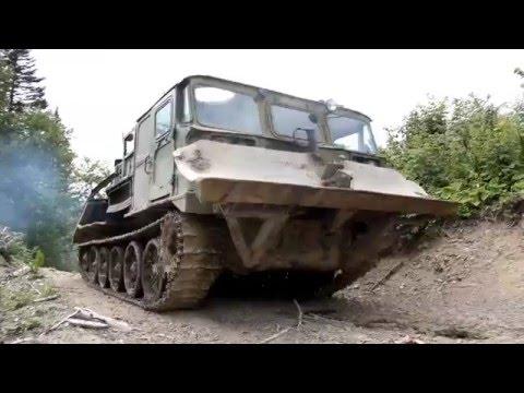 Самодельный Трелёвщик из артиллерийского тягача АТС-59Г