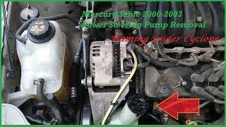 Power Steering Pump Removal: Mercury Sable 2000-2003