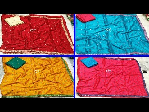 Latest Wrinkle Chiffon Sarees With Designer Blouse | Sarees Collection | Fashion9tv